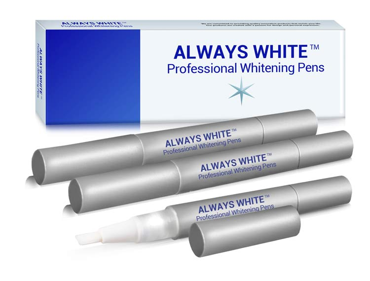 The Always White™ Teeth Whitening Pen is a safe, effective and quick way to achieve bright, white teeth.